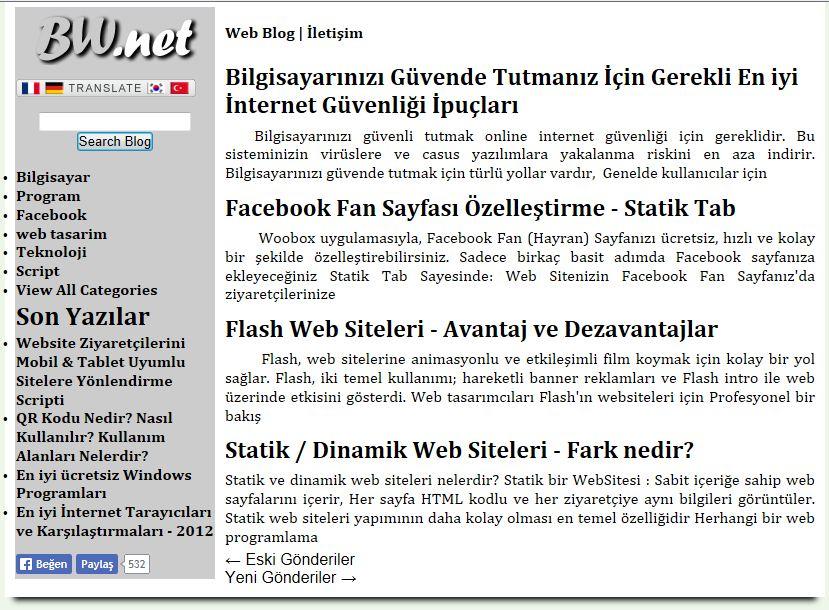 Pc & Web Teknolojileri Websitesi